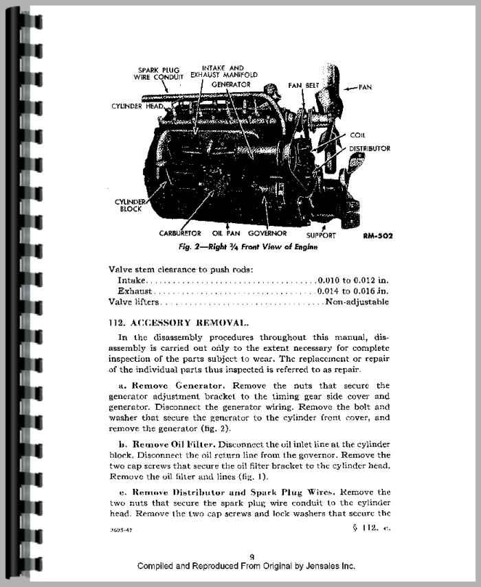 Ford N Tractor Manual