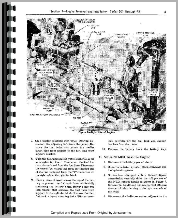 Ford 901 Tractor Service Manual