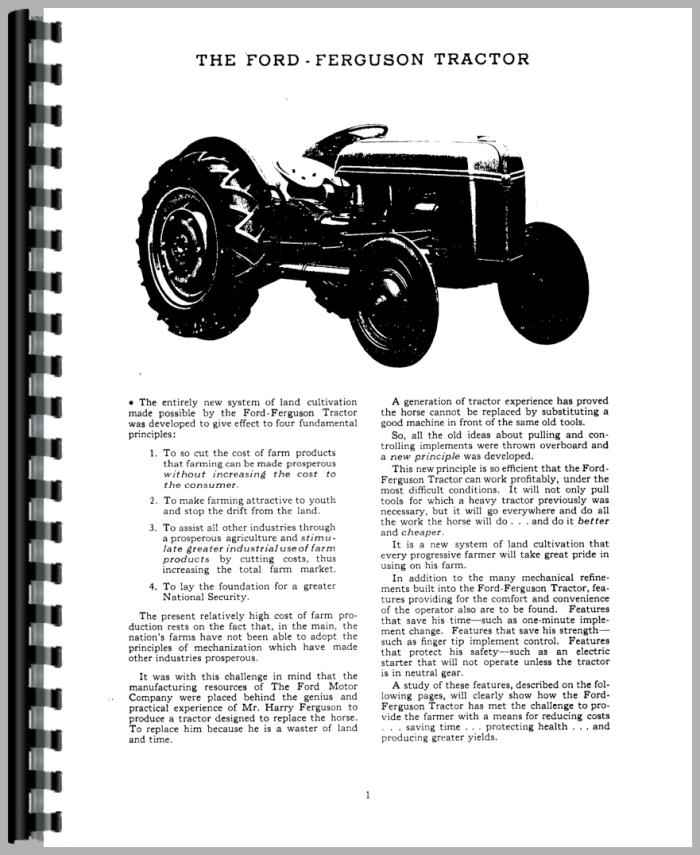 ford 9n tractor operators manual rh agkits com ford 9n tractor repair manual ford 9n tractor manual pdf