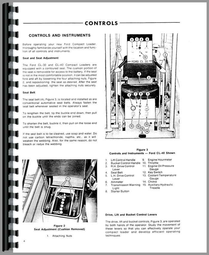 ford cl40 skid steer operators manual