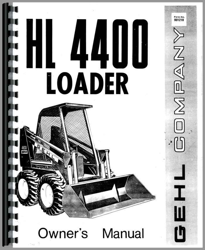 gehl hl4400 skid steer loader operators manual rh agkits com gehl 4625 skid steer service manual gehl skid steer service manual