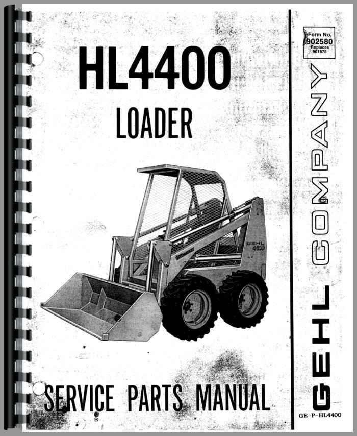 gehl hl4400 skid steer loader parts manual rh agkits com gehl skid steer parts manual gehl skid steer service manual