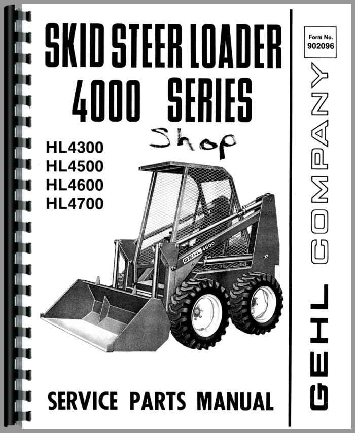 Gehl HL4600 Skid Steer Loader Parts Manual