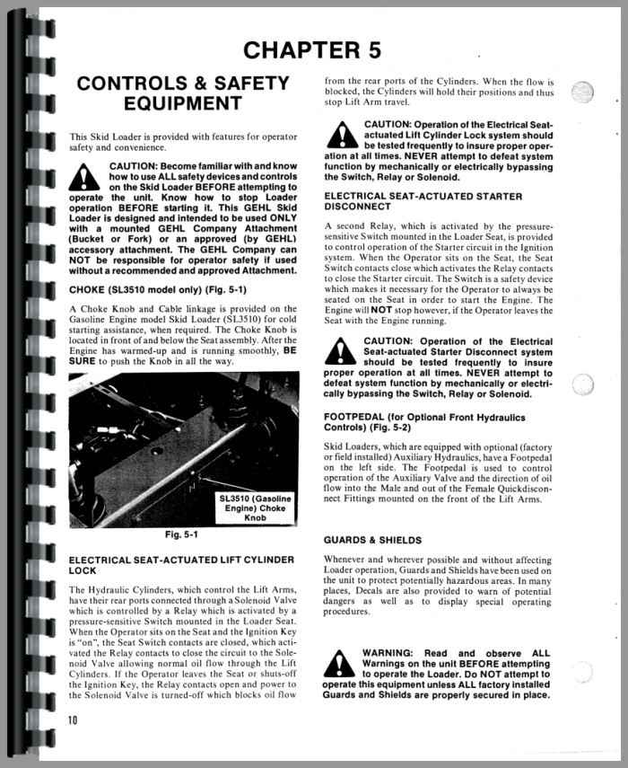Gehl SL3610 Skid Steer Loader Operators Manual