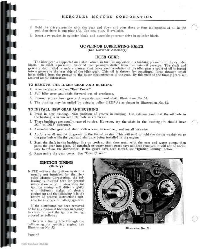 Hercules Engines HX Series Engine Service Manual