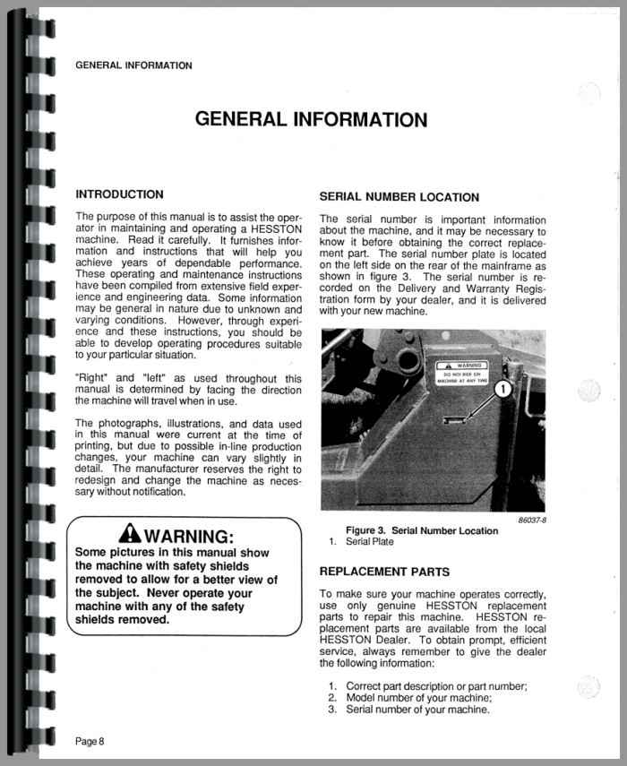 Hesston 1120 mower conditioner operators manual tractor manual ccuart Choice Image