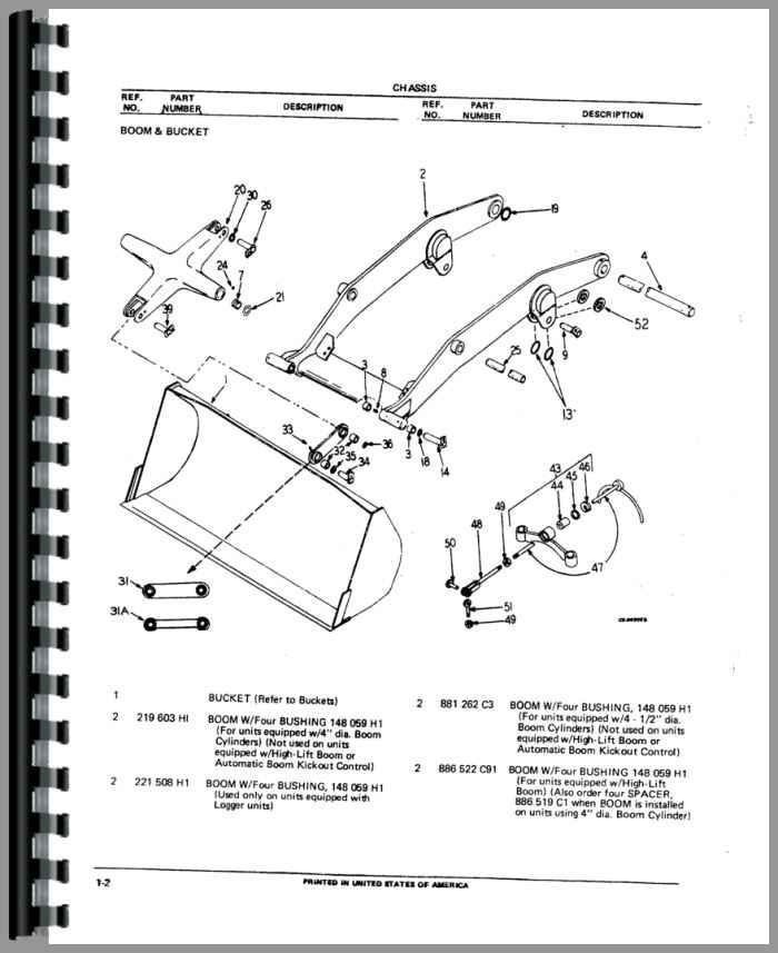 Hough H 50c Pay Loader Parts Manual