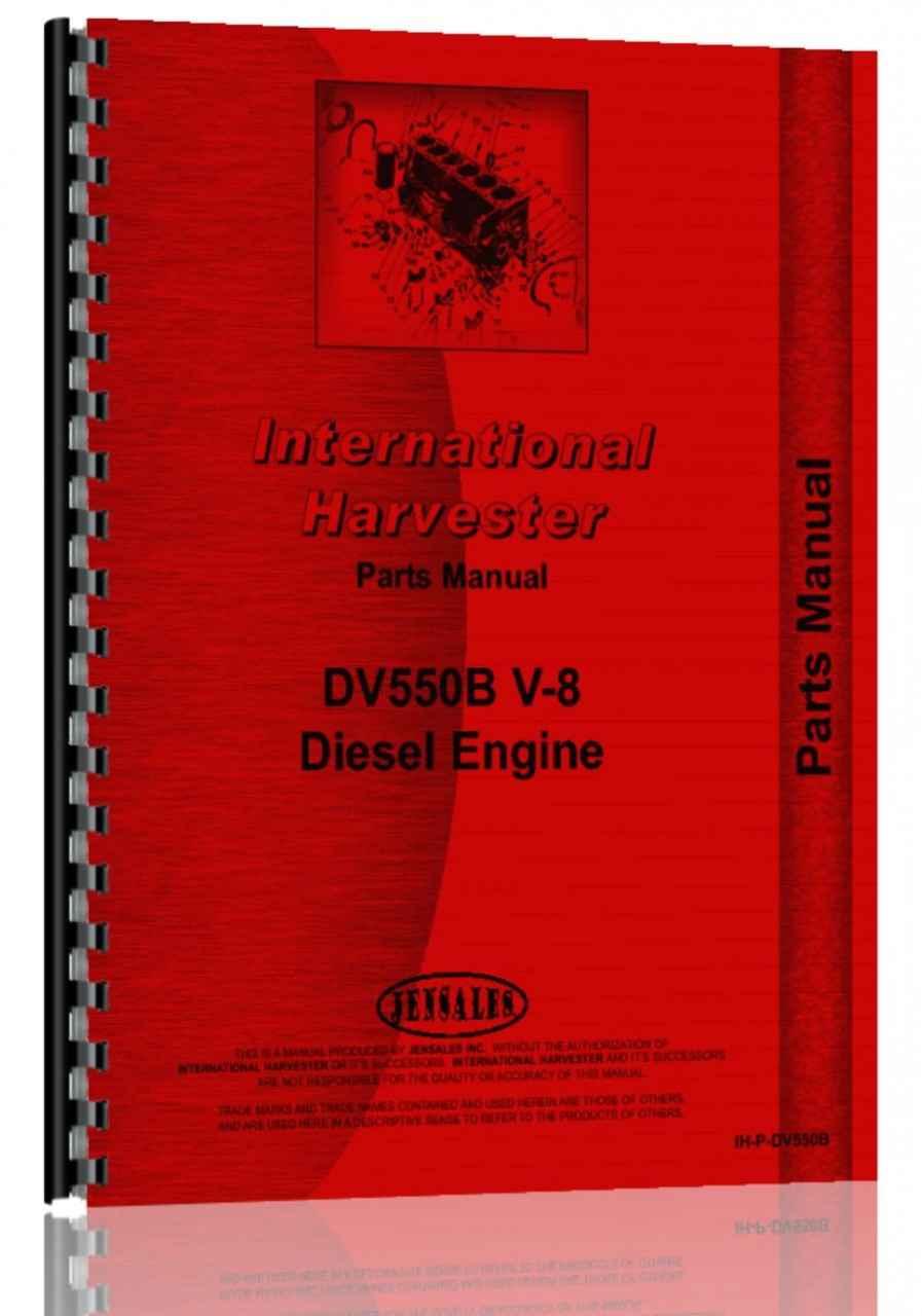International Engine Parts Diagram Wiring Library Navistar Dt466 Harvester Dv550b Manual Htih Pdv550b