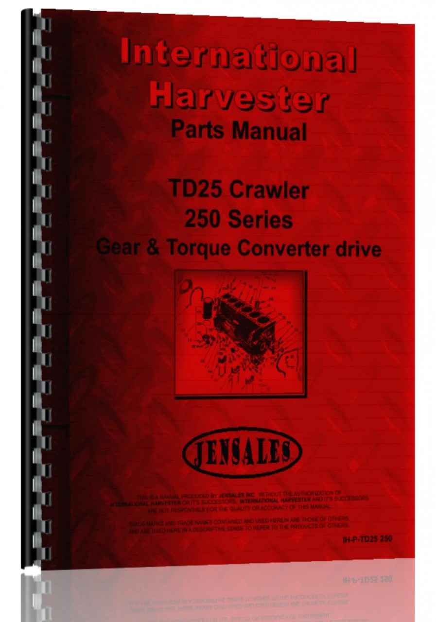 International Harvester Part Numbers : International harvester td crawler parts manual