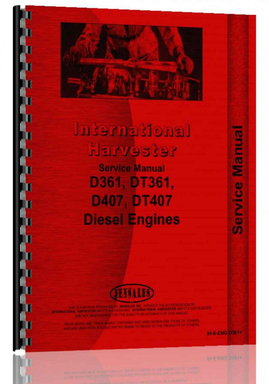 International Harvester 815 Combine Engine Service Manual (HTIH-SENGD361)