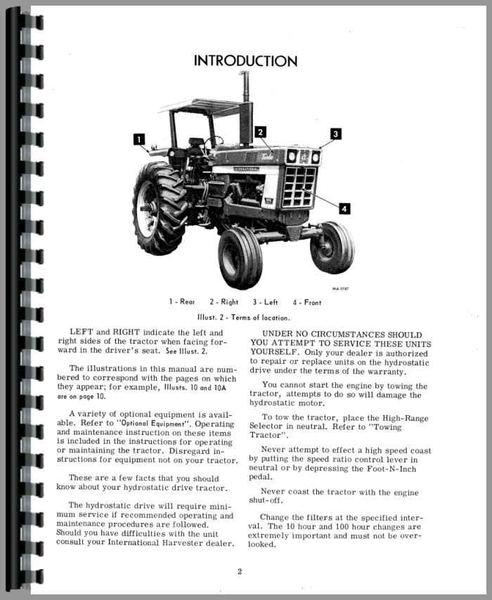 farmall 1066 tractor operators manual