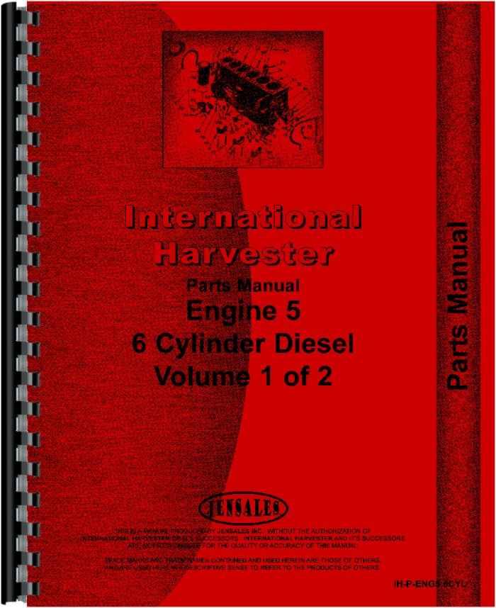 International Harvester 1086 Tractor Engine Parts Manual