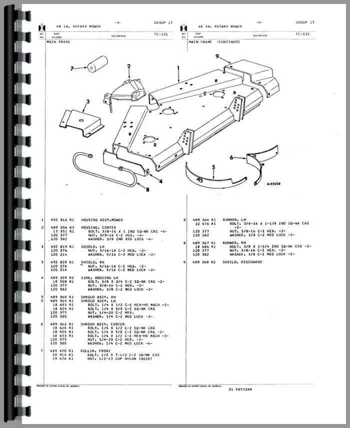 International Harvester 110 Disk Harrow Parts Manual