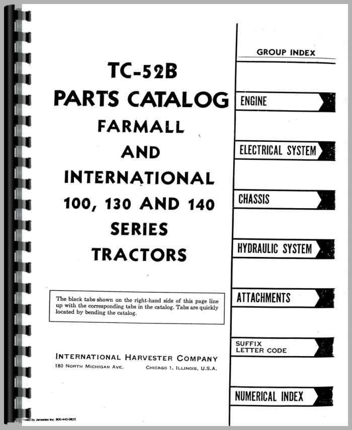 Farmall 140 Tractor Parts Manual