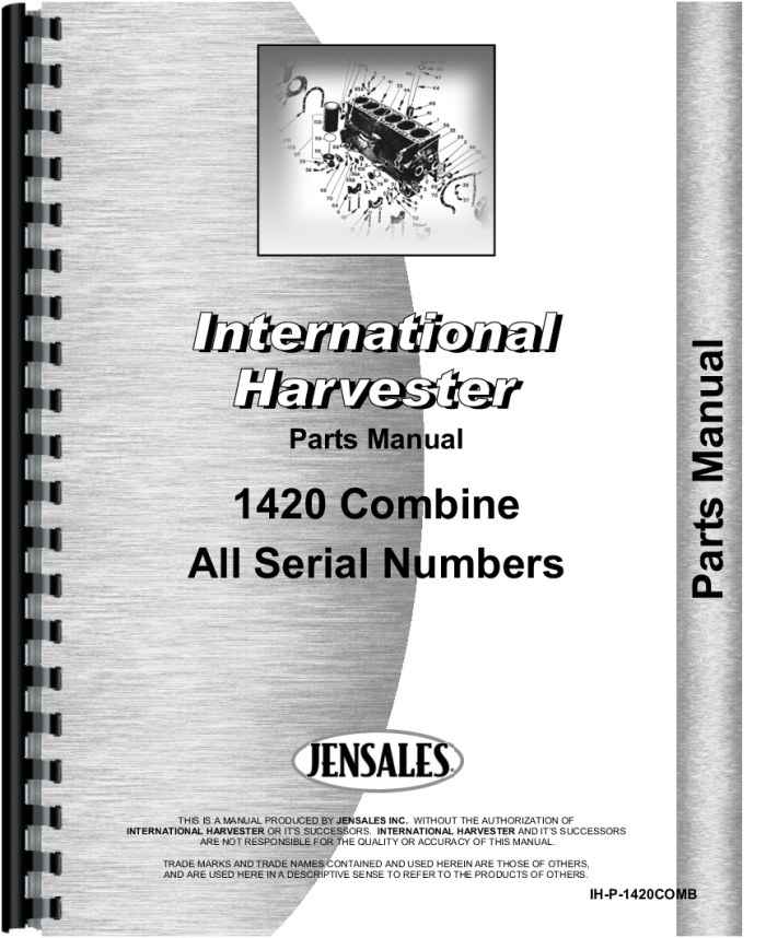 International Harvester Part Numbers : International harvester combine parts manual
