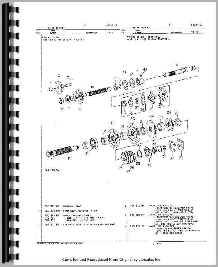 cub lo boy 154 parts manual