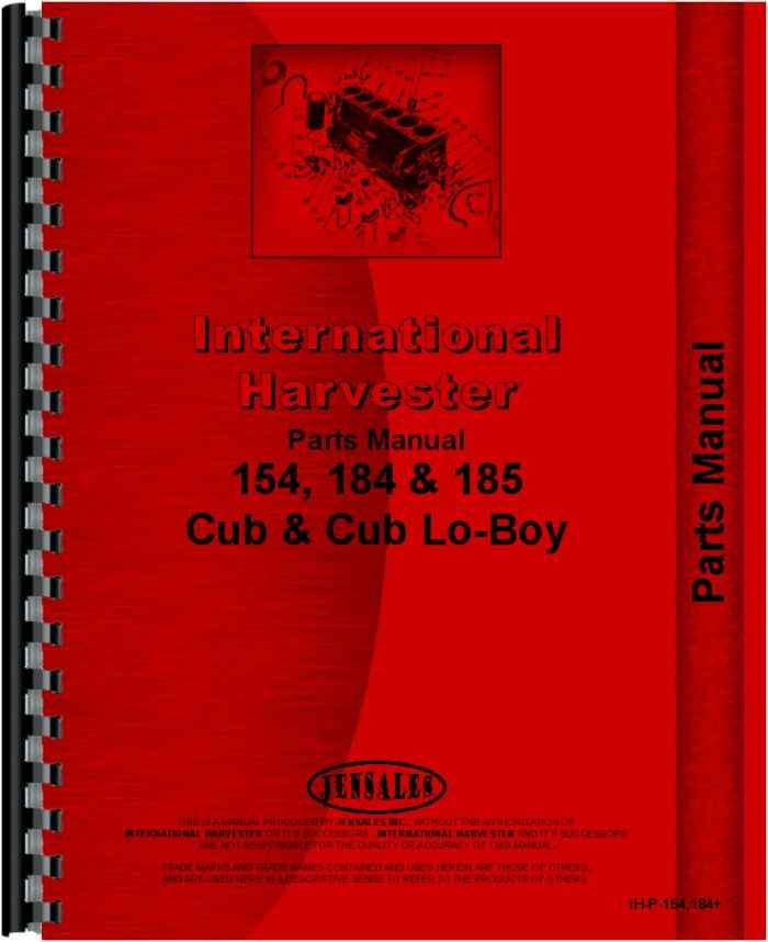 International Harvester Part Numbers : International harvester cub lo boy tractor parts manual
