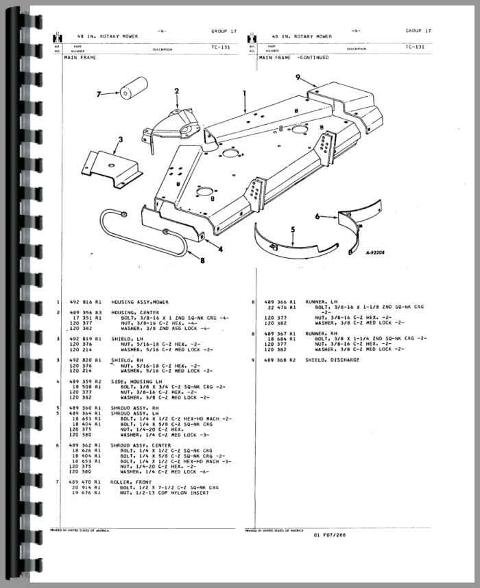 International Harvester 185 Cub Lo Boy Tractor Attachments Parts Manual HTIH P154ATTCH