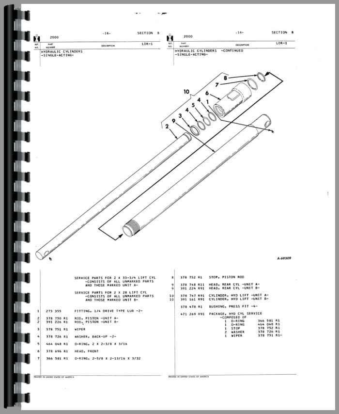 International Harvester 2001 Loader Attachment Parts Manual
