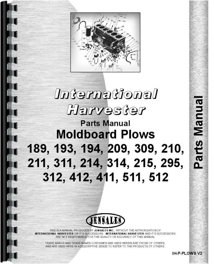 International Harvester Part Numbers : International harvester plow parts manual
