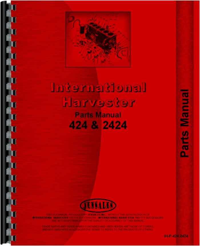 International Harvester 424 Parts : International harvester industrial tractor parts manual