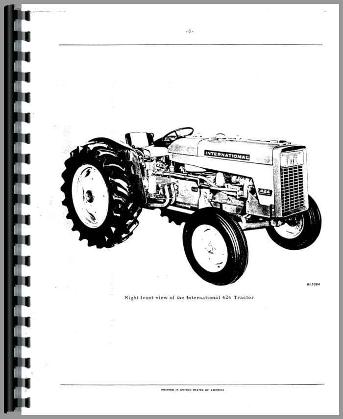 International Harvester Parts : International harvester industrial tractor parts manual