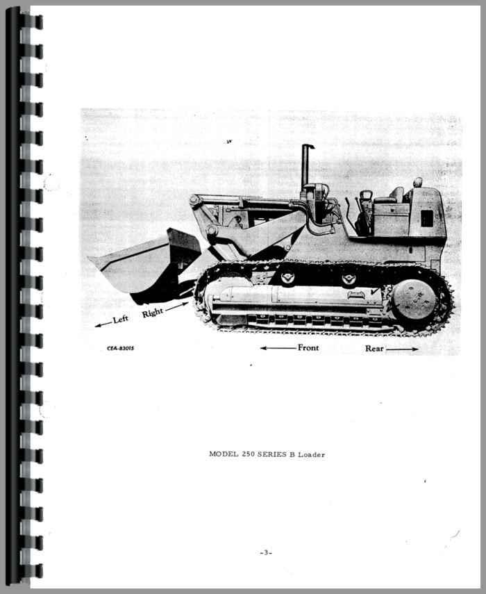 Details about  /Parts Manual International Harvester 250 Crawler