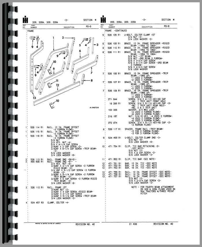 international harvester 309 plow parts manual. Black Bedroom Furniture Sets. Home Design Ideas