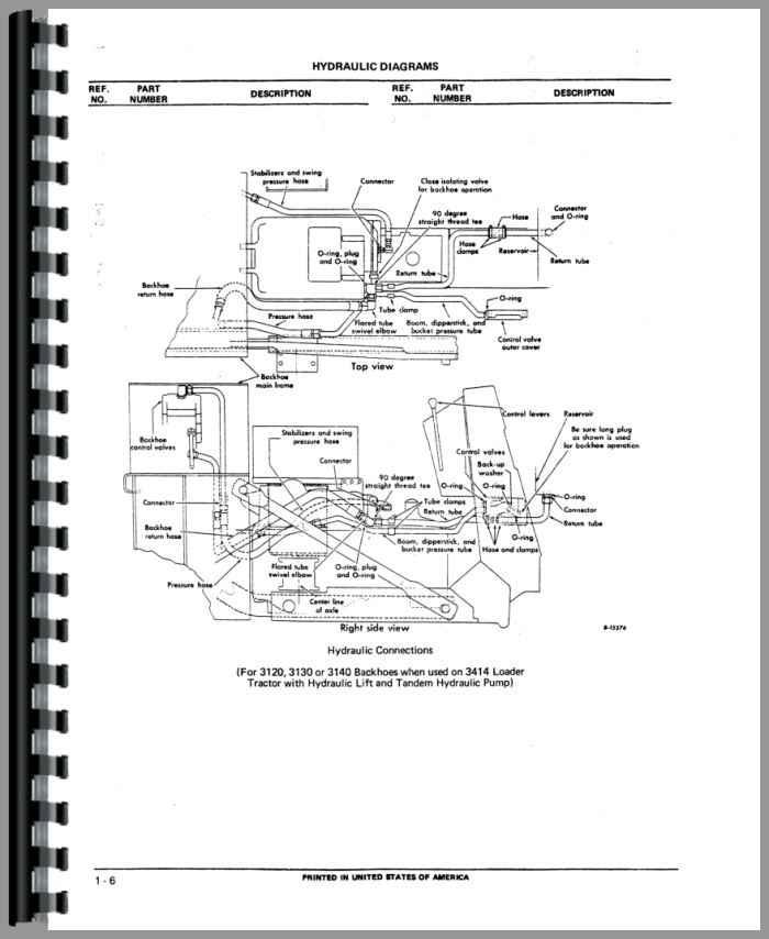 International Harvester 3141 Backhoe Attachment Parts Manual