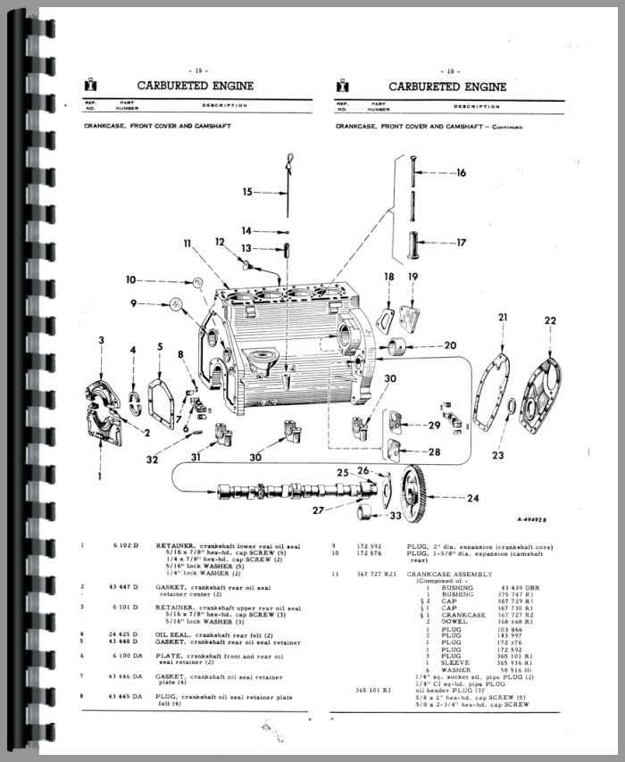 Farmall 340 Tractor Parts Manual