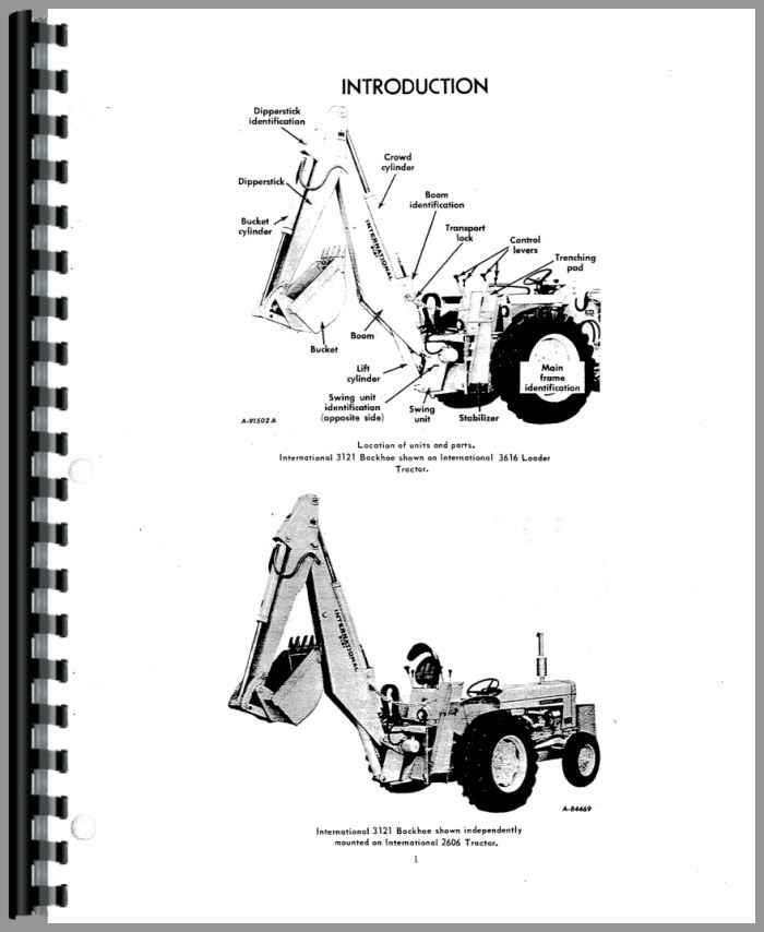 international harvester 3414 backhoe attachment operators manual rh agkits com International 3414 Seat international 3414 service manual