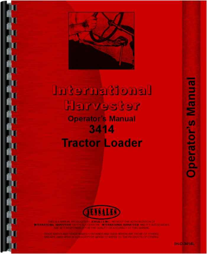 international harvester 3414 industrial tractor operators manual rh agkits com International 3414 Loader Tractor international 3414 manual free download