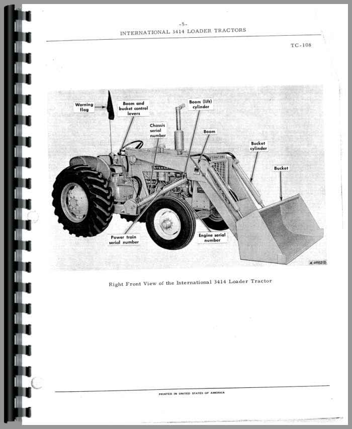 international harvester 3414 industrial tractor parts manual rh agkits com international 3414 manual free download International 3514 PTO
