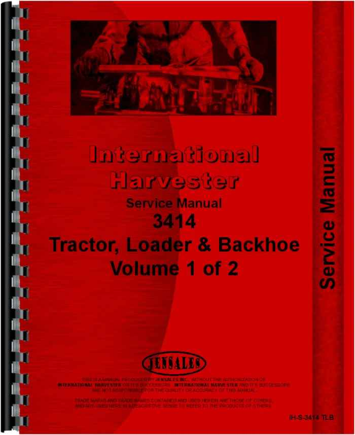 international harvester 3414 industrial tractor service manual rh agkits com International 3414 Tractor international 3414 service manual