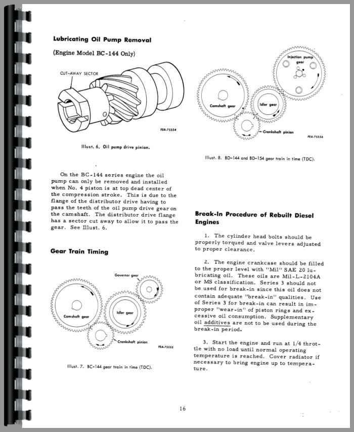 international 511 combine parts manual