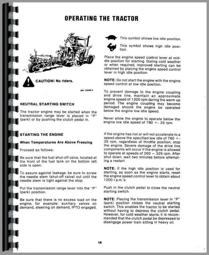 International Harvester 3788 Tractor Operators Manual