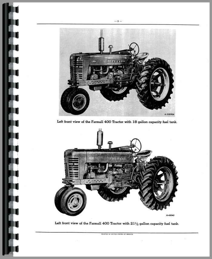 Farmall 400 Tractor Diagram - Wiring Diagrams Home on