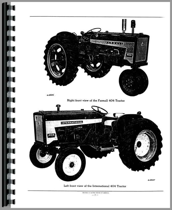 farmall 404 tractor parts manual rh agkits com International Harvester 504 Tractor 1959 International 340 Utility Tractor