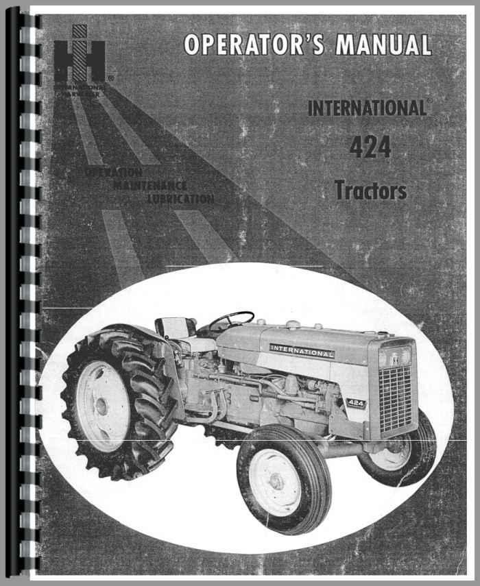 International Harvester 424 Parts : International harvester tractor operators manual