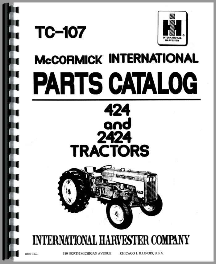 International 424 Parts Diagram - Wiring Diagrams Schematics