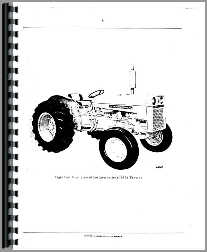 international 511 combine parts manual