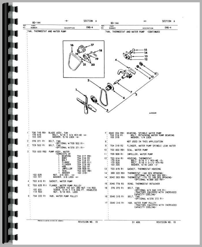 International Harvester 444 Tractor Engine Parts Manual – Ihc 444 Wiring Diagram Electrical
