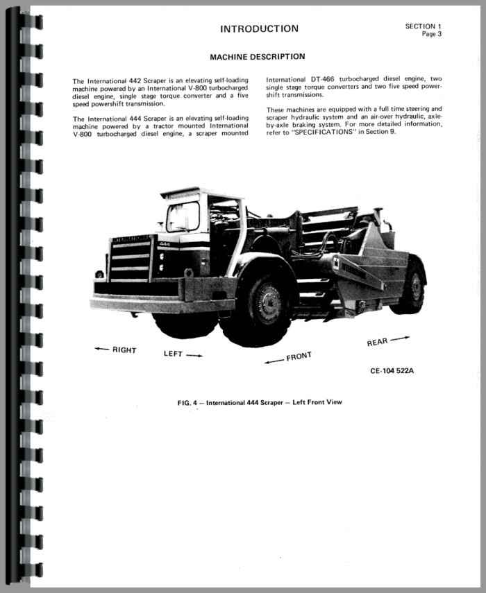 international harvester 444 pay scraper operators manual rh agkits com Tractor Manual Thickness Tractor Owners Manuals
