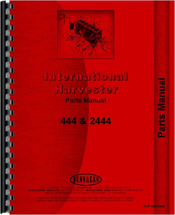 International Harvester Part Numbers : International harvester tractor parts manual