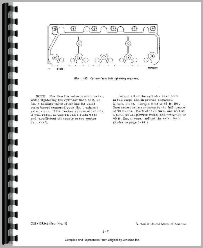 International Harvester 454 Tractor Engine Service Manual
