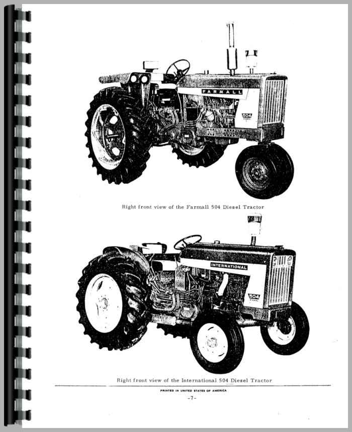 Farmall 504 Tractor Parts Manual (HTIH-P5042504) on