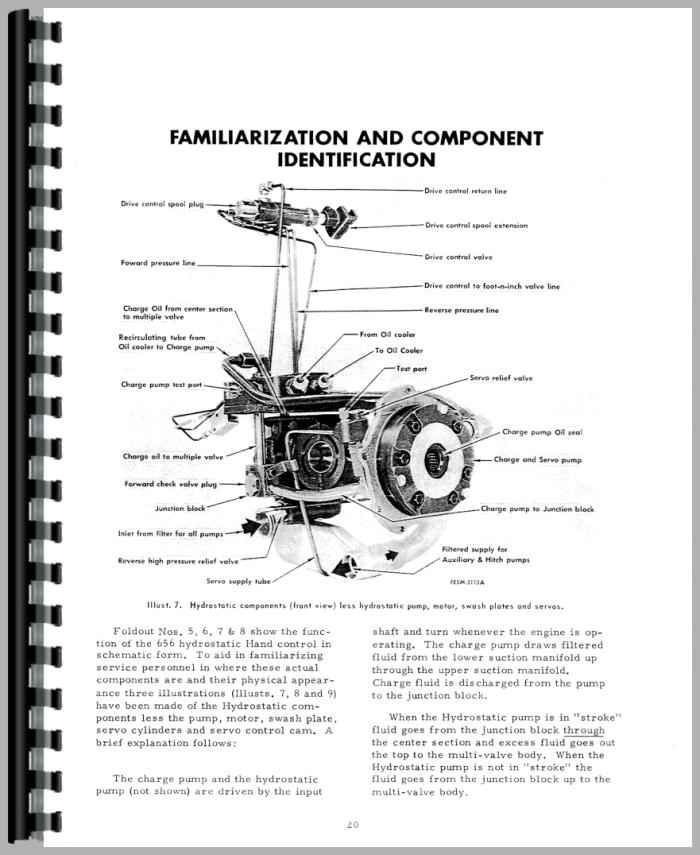 Farmall 544 Tractor Hydrostatic Transmission Service Manual