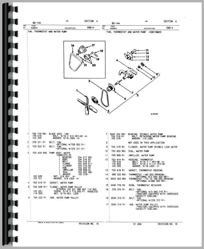 international harvester 574 tractor engine parts manual 986 international tractor wiring diagram #5