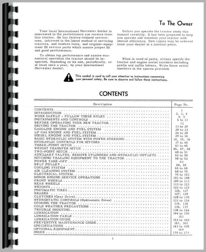 ghdonat.com International Harvester 1568 Tractor Operators Manual ...