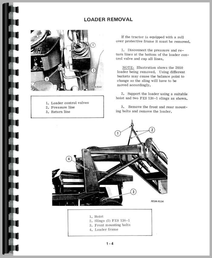 International Harvester 784 Tractor Service Manual on